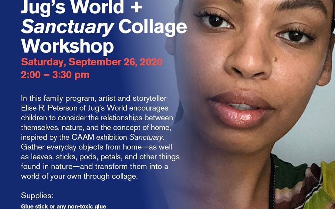 This Saturday join us from 2-3:30pm for Jug's World + Sanctuary Collage Workshop. In this family program, artist and sto…
