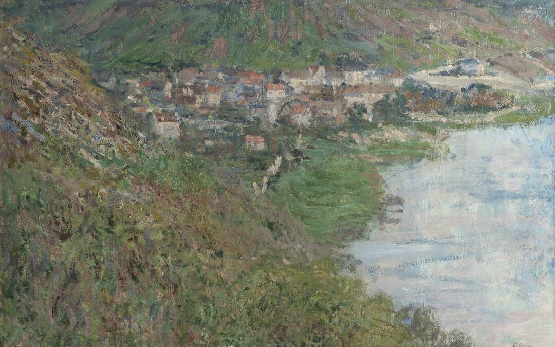 Slow your scroll and take in a riverside view 🌾  Claude Monet lived in Vétheuil, a village on the Seine northwest of Pa…